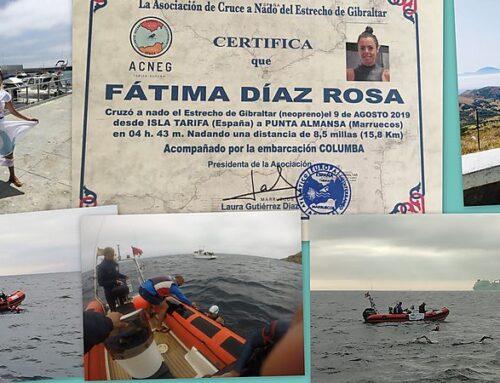 Conocemos de cerca la aventura de cruzar el Estrecho de Gibraltar a nado con Fátima Díaz Rosa, (Pr. 99)