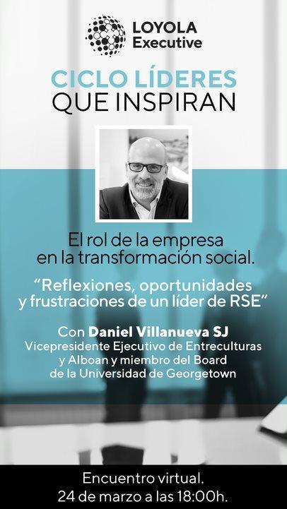 El vicepresidente de Entreculturas, Dani Villanueva SJ, en el ciclo de encuentros de Loyola Executive