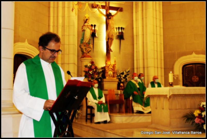 Los Antiguos Alumnos en la despedida a la comunidad jesuita del Colegio San José Villafranca
