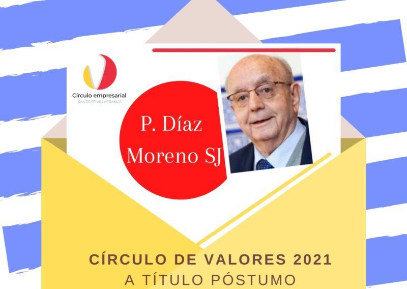 Círculo de Valores para el jesuita villafranqués P. Díaz Moreno SJ, a título póstumo